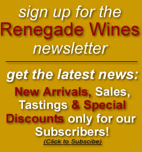 Renegade Wines Newsletter
